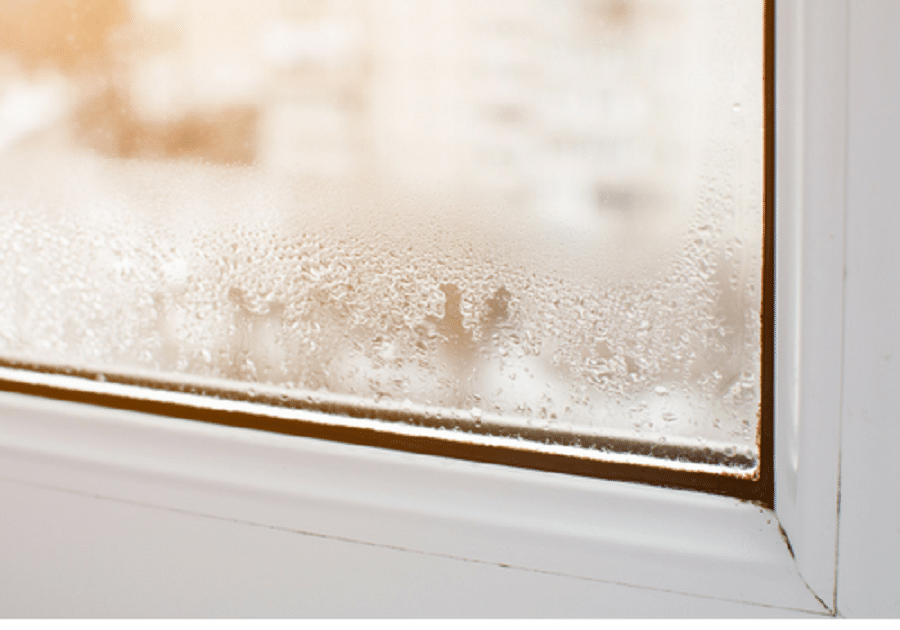 Condensation signs in the home